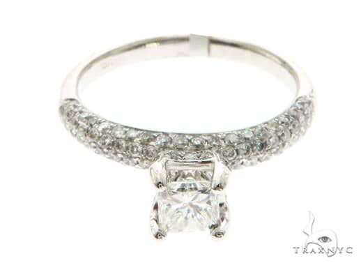 18K White Gold Prong Diamond Ring 63717 Anniversary/Fashion