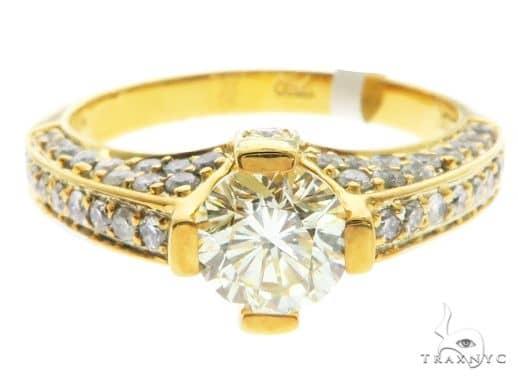 18K Yellow Gold Prong Channel Diamond Ring 63719 Anniversary/Fashion