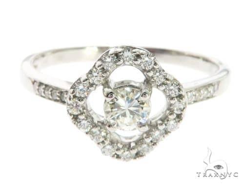 14K White Gold Prong Diamond Ring 63722 Anniversary/Fashion