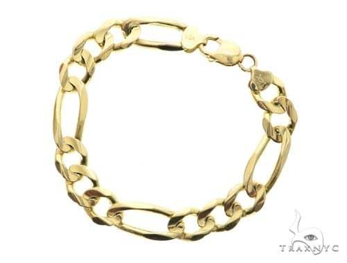14K Yellow Gold Figaro Bracelet 63738 Gold