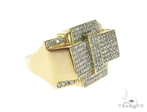 10K Yellow Gold Micro Pave Diamond Ring 63745 Stone