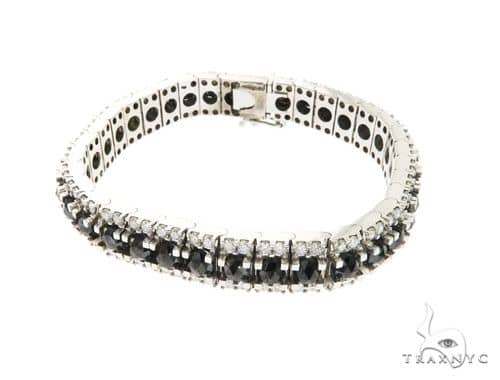 10K White Gold Prong Diamond Bracelet 63747 Diamond