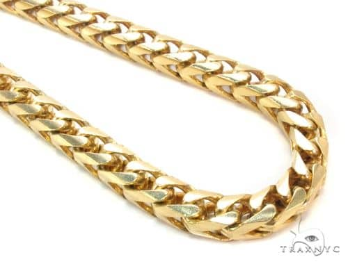 14K Gold Franco Chain 24 Inches 6mm 135.6 Grams 63748 Gold