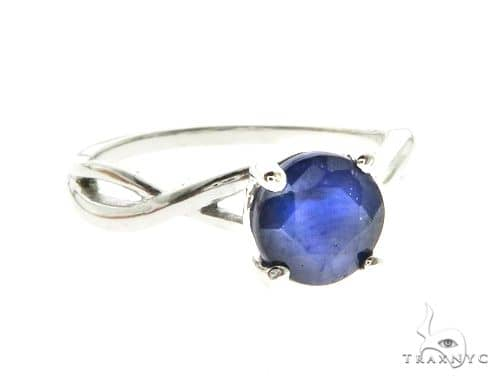 10K White Gold Sapphire Ring 63749 Anniversary/Fashion