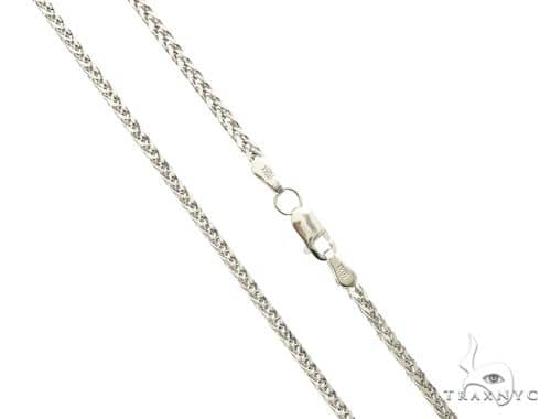 10K White Gold Hollow Wheat n 16 Inches 1.70MM 2.8 Grams 63765 Gold