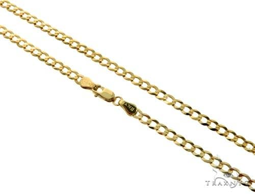 10KY Cuban Curb Link Chain 28 Inches 3.5mm 6.55 Grams 63774 Gold