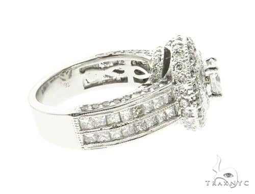 18K White Gold Princess & Channel Engagement Ring 63779 Engagement