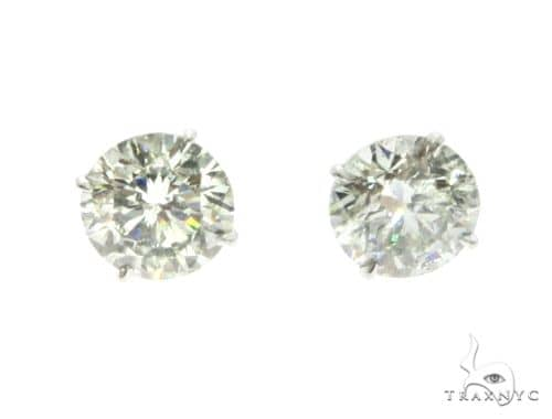 18K White Gold XL Diamond Earrings 63759 Featured Earrings