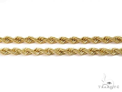 Hollow Rope Gold Chain 24 Inches 2.7mm 3.4 Grams 63800 Gold