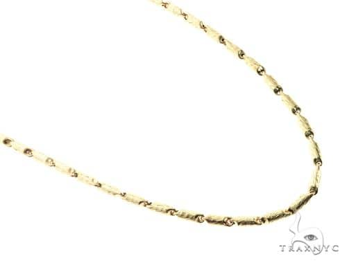 10K Yellow Gold 30 Inches 5MM Round Chain 63815 Gold
