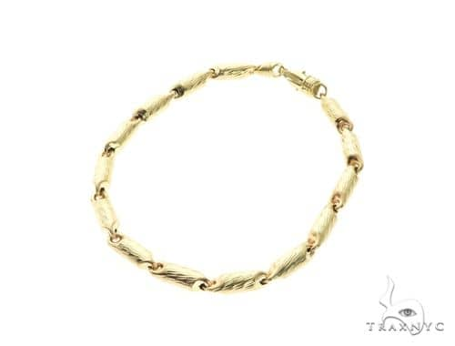 10K Yellow Gold 4MM Round Bracelet 63818 Gold