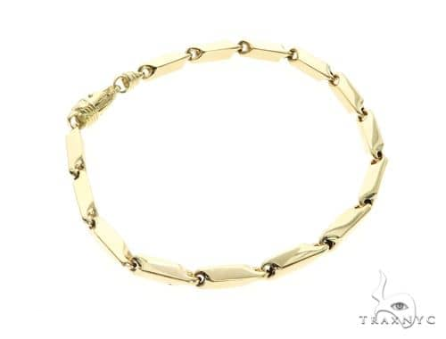 10K Yellow Gold 5MM Square Bracelet 63823 Gold