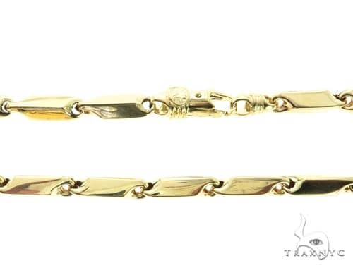 10K Yellow Gold 6MM Square Bracelet 63824 Gold