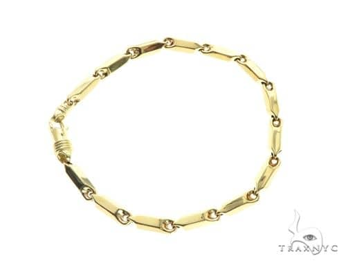 10K Yellow Gold 4MM Pencil Bracelet 63828 Gold