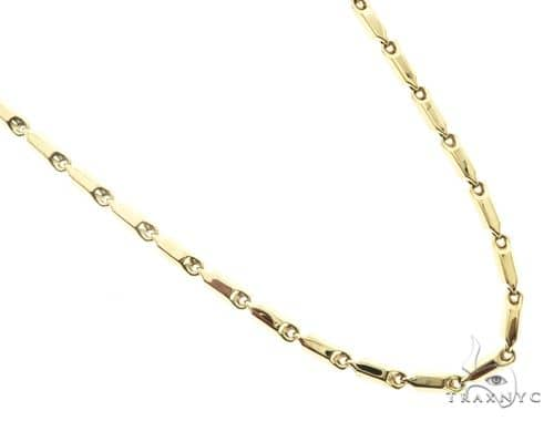 10K Yellow Gold 30 Inches 4MM Pencil Chain 63841 Gold