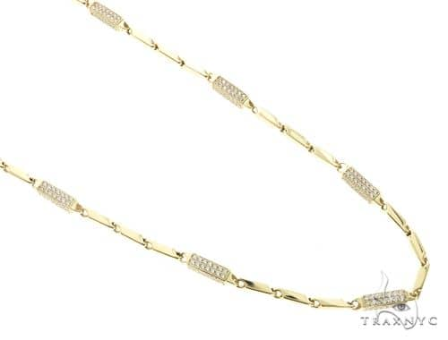 10K Yellow Gold 30 Inches 4MM Pencil,Square & Round Chain 63848 Gold