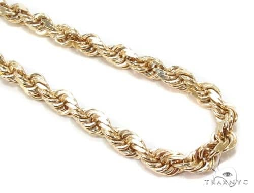 Mens 14k Solid Yellow Gold Rope Chain 28 Inches 4mm 48.6 Grams 63873 Gold