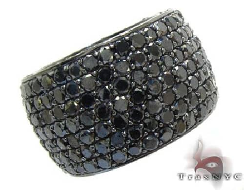 .925 Sterling Silver Black Diamond Infinity Band 63880 Stone
