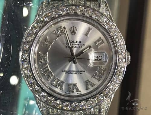 DateJust Oyster Perpetual Diamond Rolex Watch 41mm Stainless Steel 63894 Diamond Rolex Watch Collection