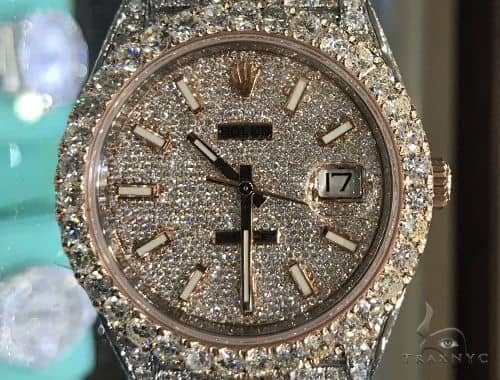 Mens Diamond Rolex Traxnyc