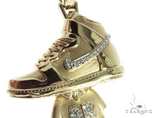 Custom Diamond Sneaker Pendant 63909 Metal