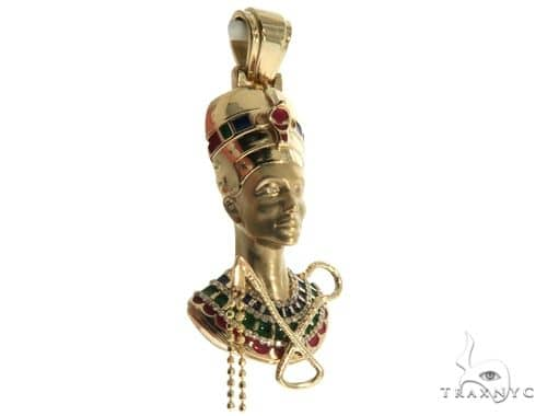 Custom Made Nefertiti Pendant 63917 Stone