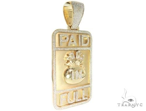 Custom Diamond Pendant - Paid In Full 63921 Metal