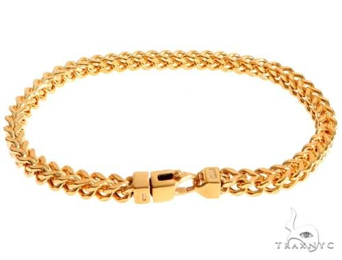 22K Yellow Gold Hollow Franco Link Bracelet 9 Inches 5.5mm 22.9 Grams 63922 Gold