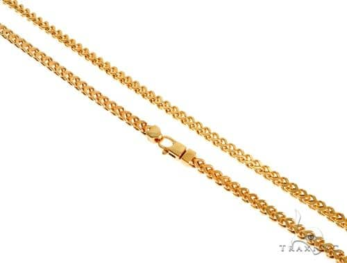 22K Yellow Gold Hollow Franco Link Chain 22 Inches 4.5mm 34.4 Grams 63927 Gold