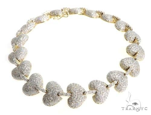 Pave Diamond Heart Bracelet 63931 Diamond