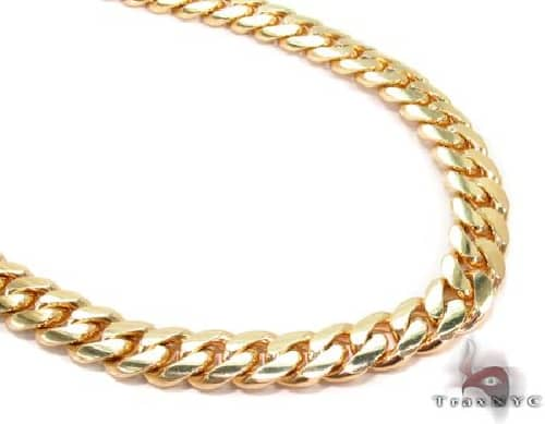 Miami Cuban Curb Link Chain 28 Inches 10mm 234.5 Grams 63938 Gold