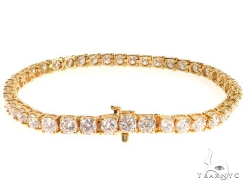 18K Yellow Gold Diamond Tennis Bracelet 63940 Diamond