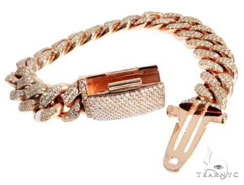 14K Gold Diamond Bracelet With Custom Lock 63946 Diamond