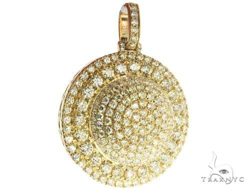 14K Yellow Gold Pave Diamond Charm Pendant 63949 Stone