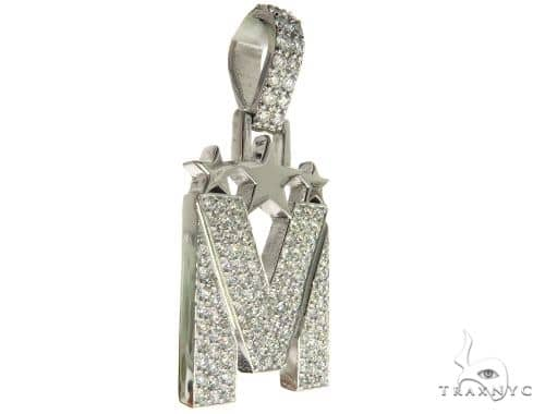 Diamond Initial M Pendant 63962 Metal