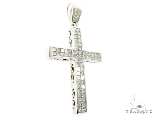 2 Row Invisible Diamond Cross Crucifix 63972 Diamond