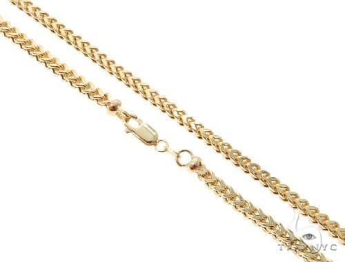 10K Yellow Gold Hollow Franco Link Chain 24 Inches 3.5mm 18.5 Grams 63986 Gold
