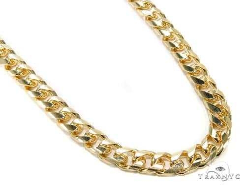 14K Yellow Gold Hollow Cuban Link Chain 26 Inches 9mm 66.0 Grams 63999 Gold