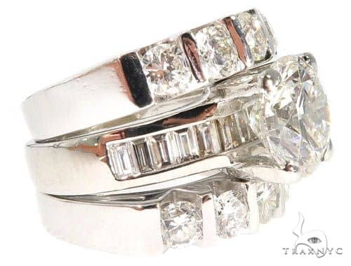 Platinum Diamond Engagement Rings Set 64005 Engagement