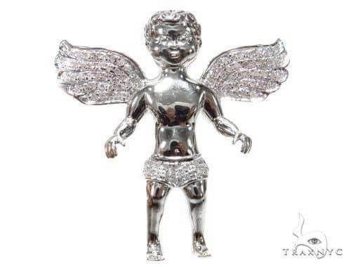 Angel Diamond Pendant 41197 Metal