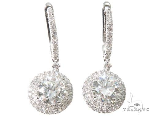 18K White Gold Diamond Chandelier Earrings 64021 Style