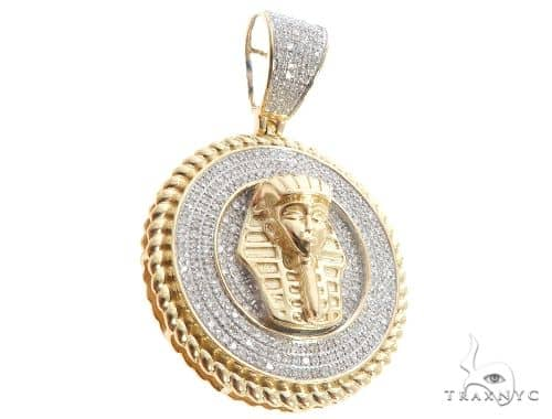 Diamond Pharaoh Medallion Pendant 64042 Metal