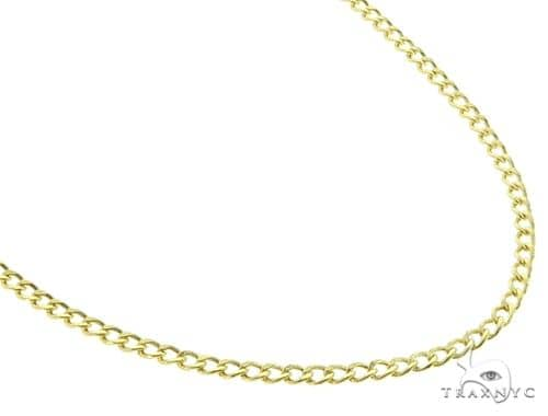 Cuban Curb 10K YG Chain 22 Inches 2mm 3.00 Grams 64047 Gold