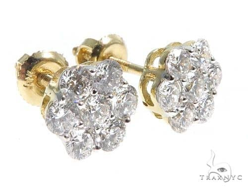 Stud Diamond Earrings 64059 Stone