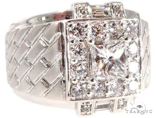 GIA Princess Cut Diamond Bricks Ring 64071 Stone
