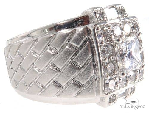 GIA Princess Cut Diamond Bricks Ring 64071 Stone