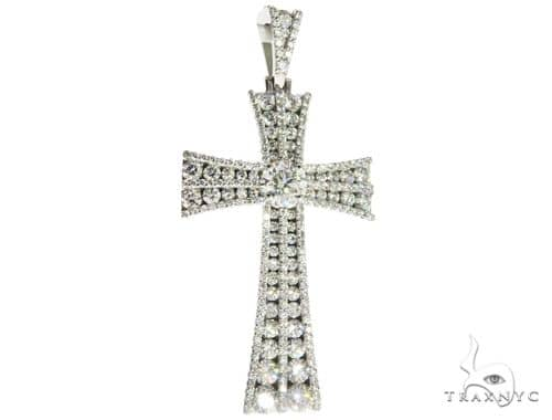 Diamond Cross with a Center Stone Diamond