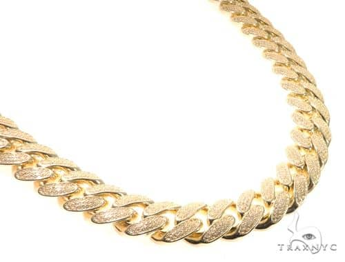 Silver CZ Solid Miami Cuban Link Chain 32 inches 17mm 443.0 Grams 64078 Silver