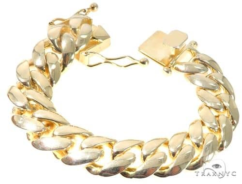 Silver Solid Miami Cuban Link Bracelet 7 Inches 17mm 117.0 Grams Silver