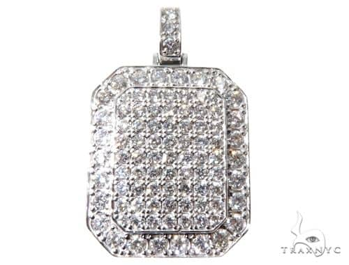 Custom Diamond Charm Pendant 64091 Metal